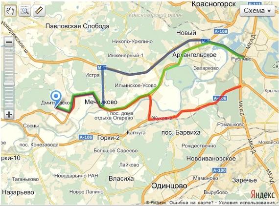 Схема проезда в КП Европа 3